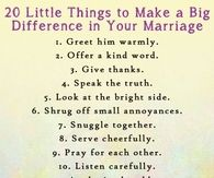20 Things To Help Your Marriage