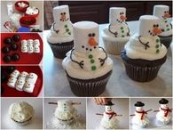 How To Make Snow Men Cupcakes