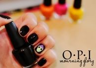 O.P.I Morning Glory Nail Polish with Skull
