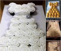 Bridal Shower Pull Apart Cupcake Cake Tutorial