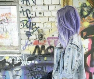 Purple Hair and Graffiti