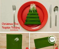 How To Fold Christmas Tree Napkins
