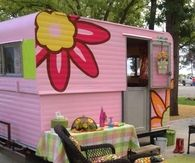 Girly Pink Retro Trailer