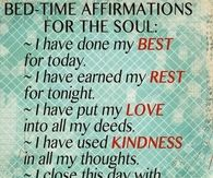 Bed Time Affirmations