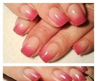 Pink shade acrylic nails