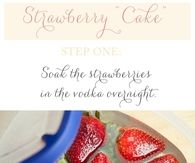 Strawberry Vodka Cake