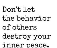 the behavior of others