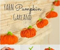 Easy To Make Yarn Pumpkin Garland