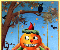 A Happy Halloween - Vintage Greeting Card