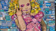Honey Boo Boo Portrait Created with Junk by Jason Mecier
