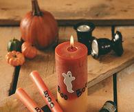 Boo ghost candles