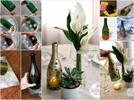 Glass bottle to Candle Holder DIY