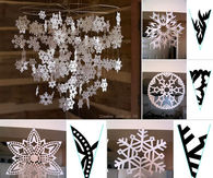 Create your own snowflake mobile