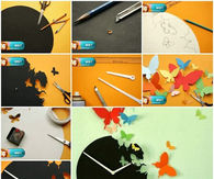Creative Butterfly Clock Craft