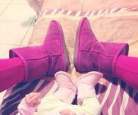 Mom and daughter ugg boots