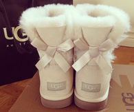 White bow ugg boots