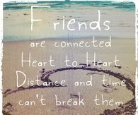 Friends are connected heart to heart