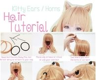 Kitty Ear Horns Hair Tutorial