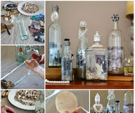 DIY Framed Photo Bottles
