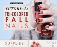 Tri Colored Fall Nails