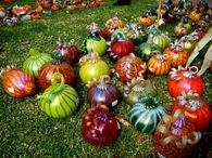 Pretty & Colorfully Decorated Pumpkins