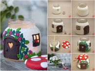 How to make a clay cottage using polymer
