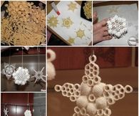 Pasta Snowflake Christmas Ornament
