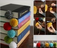Pompom DIY Bookmarks