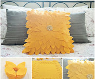 DIY Sunflower Cushion with felt fabric