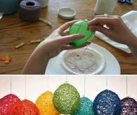 Colorful Craft Yarn Balloons