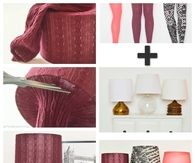 DIY Lampshades Using Leggings