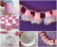Plastic cup garland lights