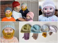 Crochet baby beards