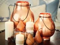 Lanterns Made Glamorous with Copper Leaf from Craft Store