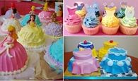 Disney themed princess cakes
