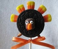 Thanksgiving cookie pops