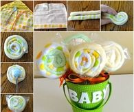 DIY Washcloth Lollipops