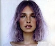 Short purple cute cut