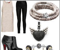 Black & Silver Pants Outfit & Accessories for Holiday Parties