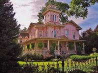 Pink Victorian House in Wooster, Ohio