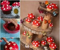 Create your own Toadstool cupcake stand