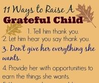 11 ways to raise a gratefful kid