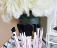 Coffee In A Vase Makeup Brush Holder