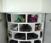 Lazy Susan Shoe Organization