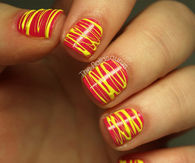 Spun Nail Polish Art
