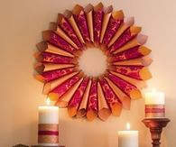 Thanksgiving Paper Wreath