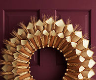 Thanksgiving Wreath made from Paper and Wheat