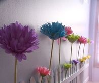 Floral fence for a baby girl nursery
