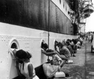 Kissing their Sailors Goodbye....