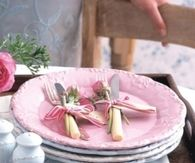 Pretty Pink Dinner Plates